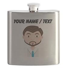 Custom Businessman Avatar Flask