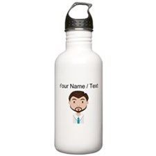 Custom Businessman Avatar Sports Water Bottle
