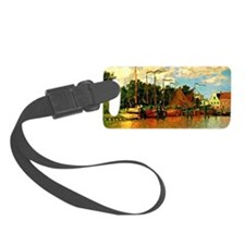 Monet - Boats at Zaandam Luggage Tag