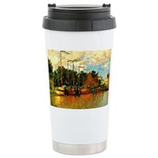 Monet - Boats at Zaandam Ceramic Travel Mug