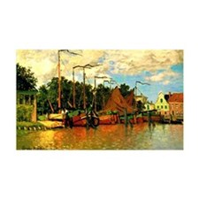 Monet - Boats at Zaandam Wall Decal