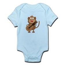 Monkey Playing Guitar Body Suit
