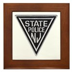 New Jersey State Police Framed Tile