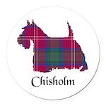 Terrier - Chisholm Round Car Magnet