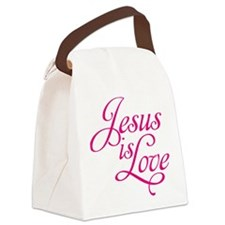 Jesus is Love Canvas Lunch Bag
