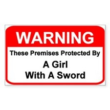 Premises Warning - Rectangle Decal
