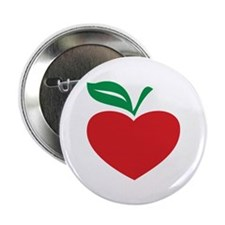 "Apple heart 2.25"" Button"