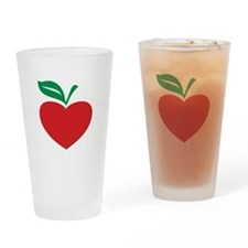 Apple heart Drinking Glass