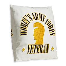 Women's Army Corp [WAC] Burlap Throw Pillow