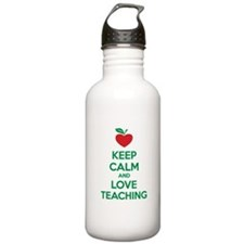 Keep calm and love teaching Water Bottle