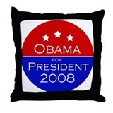 Obama 2008 Throw Pillow