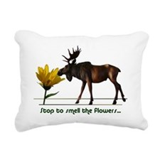 Stop To Smell The Flower Rectangular Canvas Pillow