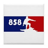 858 Surf Tile Coaster