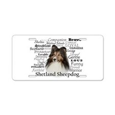 Sheltie Traits Aluminum License Plate