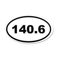 140.6 Oval Car Magnet