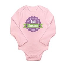 1st Easter Label for baby Long Sleeve Infant Bodys