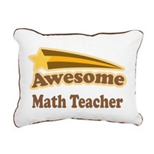 Awesome Math Teacher Rectangular Canvas Pillow