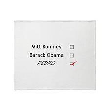 Vote for Pedro Throw Blanket