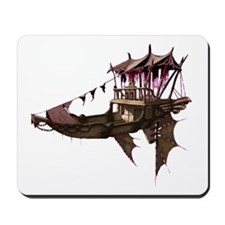 Winged steampunk barge Mousepad