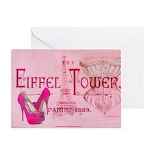 eiffel tower stiletto Greeting Card