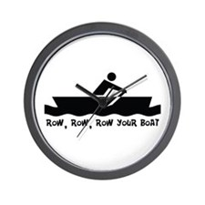 Row Row Row Your Boat Wall Clock
