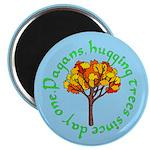 Pagans Hugging Trees Magnet