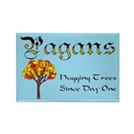 Pagans Hugging Trees Rectangle Magnet