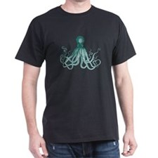 Dark Teal Octopus T-Shirt