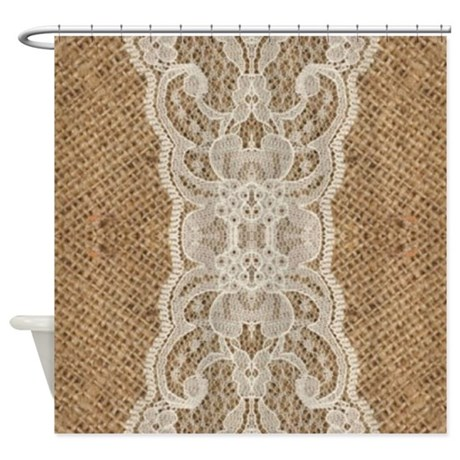 Burlap Lace Fashion Shower Curtain By ADMIN CP62325139