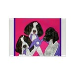 GSP Puppies Rule Rectangle Magnet (100 pack)