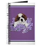 St. Bernard Puppy with flower Journal