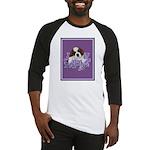 St. Bernard Puppy with flower Baseball Jersey