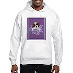 St. Bernard Puppy with flower Hooded Sweatshirt