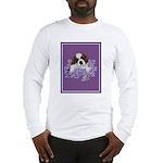 St. Bernard Puppy with flower Long Sleeve T-Shirt