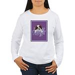 St. Bernard Puppy with flower Women's Long Sleeve