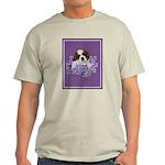 St. Bernard Puppy with flower Ash Grey T-Shirt