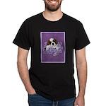 St. Bernard Puppy with flower Dark T-Shirt