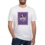 St. Bernard Puppy with flower Fitted T-Shirt