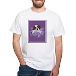 St. Bernard Puppy with flower White T-Shirt