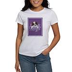 St. Bernard Puppy with flower Women's T-Shirt