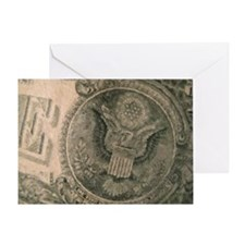 The Almighty Dollar Greeting Card