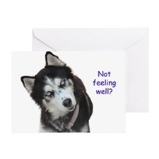 Siberian Husky Get Well Greeting Cards