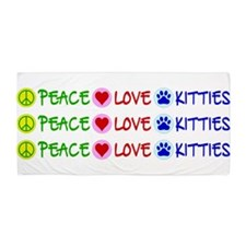 Peace-Love-Kitties Beach Towel