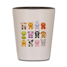 Baby Farm Animals Shot Glass