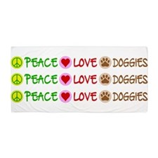 Peace-Love-Doggies Beach Towel