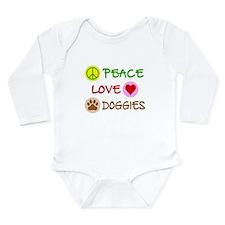 Peace-Love-Doggies Onesie Romper Suit