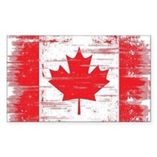 Vintage Canadian Flag  Decal