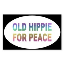HIPPIE PEACE ... Rectangle Decal
