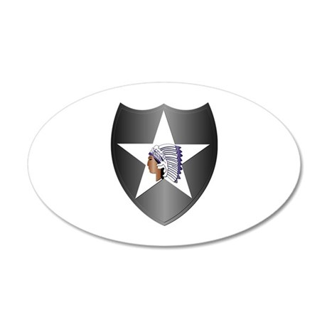 SSI - 2nd Infantry Division 20x12 Oval Wall Decal