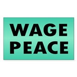WAGE PEACE ... Rectangle Decal